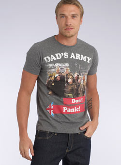 Grey Dad` Army `on` Panic`T-Shirt