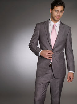 Grey Double Pinstripe Jacket
