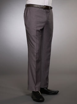 Grey Double Pinstripe Trousers