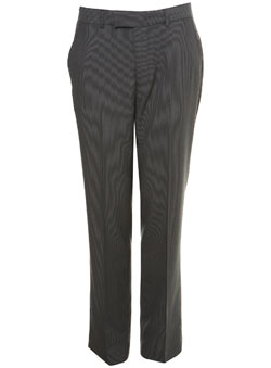 Grey Fine Stripe Trousers