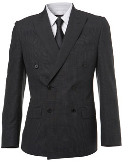 Grey Heritage `rince of Wales`Check Suit Jacket