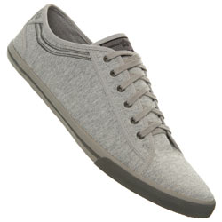 Grey Lace Up Plimsolls