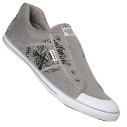 Grey Laceless Sport Trainer Shoe