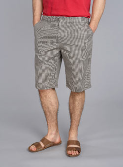 Grey Mini Check Semi Formal Shorts