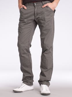 Grey Tapered Utility Cargo Trousers