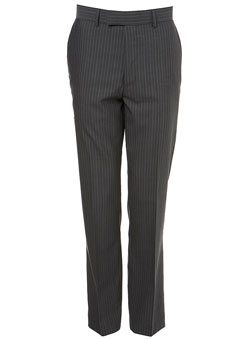 Grey Tonic Candy Stripe Suit Trousers