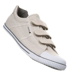 Grey Triple Velcro Sports Shoe