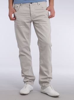 Ice Grey Tapered Jeans