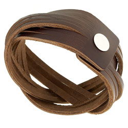 Leather Plaited Cuff