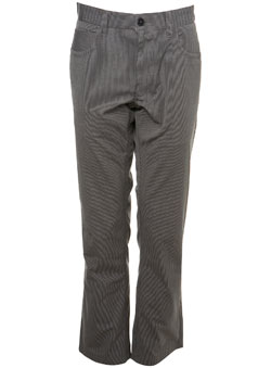 Light Grey Striped 5 Pocket Trousers