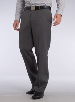 Light Grey Xtra Large Flat Front Gab Trousers