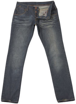 Mid Wash Vintage Tapered Jeans