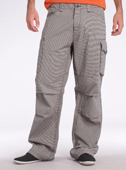 Mini Check Print Cargo Trousers