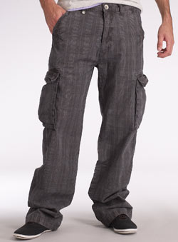 Mini Check Utility Cargo Trousers