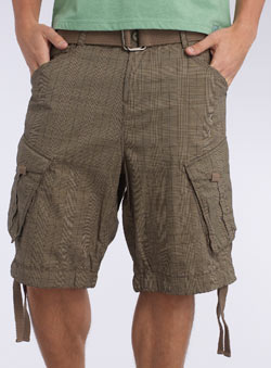 Natural Check Utility Shorts