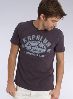 Navy `apalua`Printed T-Shirt