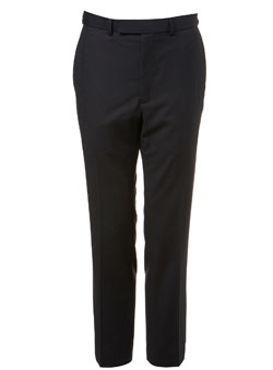 Navy Herringbone Essential Suit Trousers