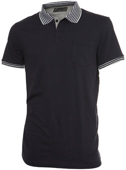 Navy Multi Tipped Polo Shirt