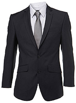 Navy Pinhead Suit Jacket