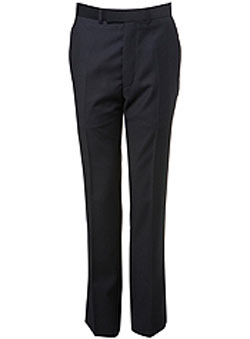 Navy Pinhead Suit Trousers