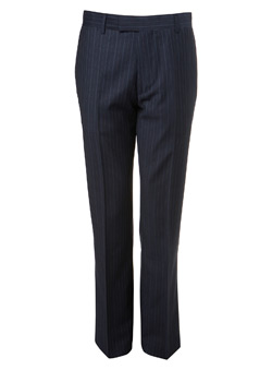 Navy Pinstripe Slim Fit Premium Suit Trousers