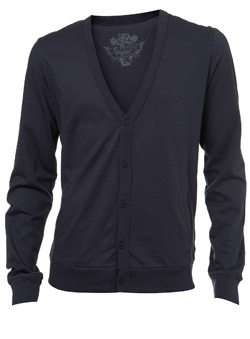 Navy Plain Jersey Cardigan