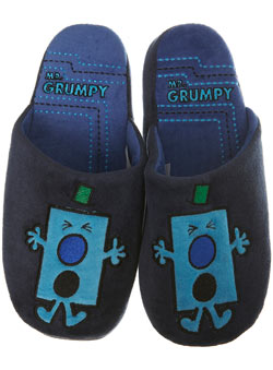 Navy `r Grumpy`Slippers