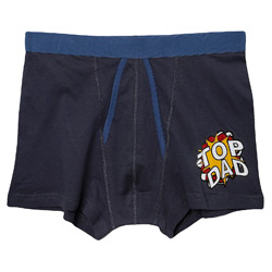 Navy Top Dad Print Trunk Underwear