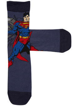 One Pack Superman Socks