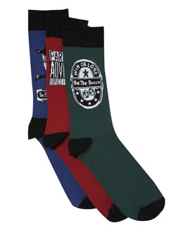 Pack of 3 andquot;Parental Advisory: Explicit Football Fanandquot; Socks