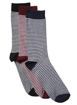 Pack of 3 French Stripe Socks