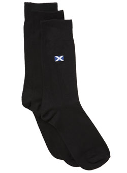 Pack of 3 St Andrew Logo Socks