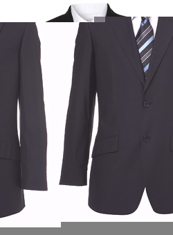 Plain Black Essential Suit Jacket