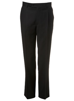 Plain Black Essential Suit Trousers