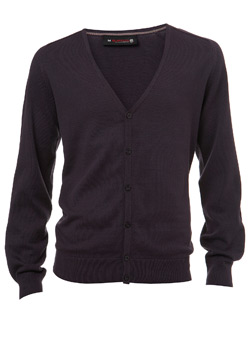 Plum Knitted Cardigan