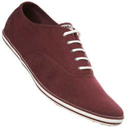 Plum Lace up Sports Shoe