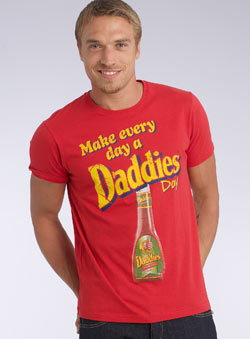 Red `ake Every Day A Daddies Day`Printed T-Shirt