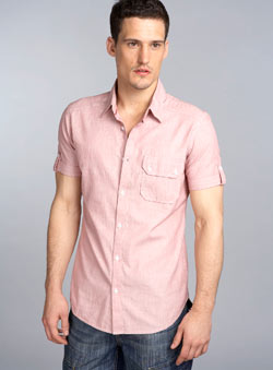 Red Edinburgh Check Fitted Shirt