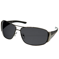 Silver Wide Arm Sunglasses