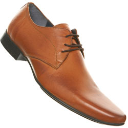 Tan Point Lace Up Shoes