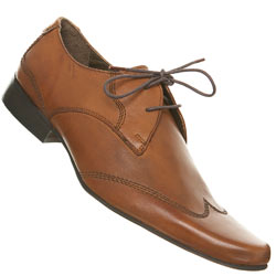 Tan Point Wing Tip Shoes
