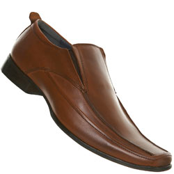 Tan Square Toe Slip On