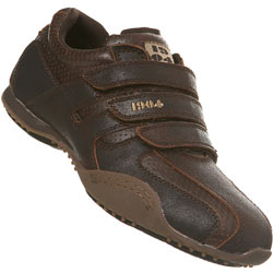 Triple Velcro Trainer Brown