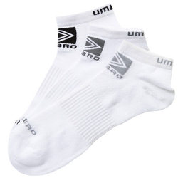 Umbro White 3 Pack Sport Gym Socks
