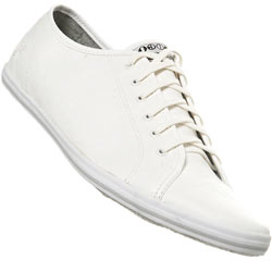 White Lace Up Crinkle Sports Shoe