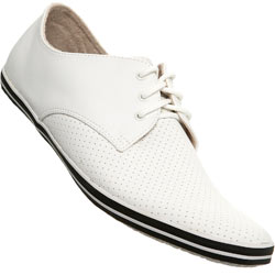White Perforated Toe Sports Shoe