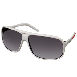 White Plastic Frame Sunglasses