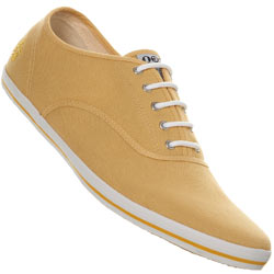 Yellow Canvas Lace Up Plimsolls