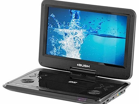 12 Inch Swivel Screen Portable DVD Player - Black