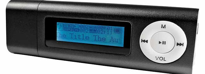 4GB MP3 Player with LED Display - Black